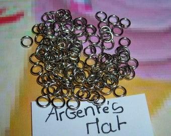 200 rings 5mm silver matte