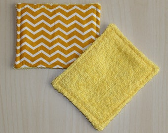 "Washable wipe ""small"" - 8.5 x 11 cm - zigzag pattern"
