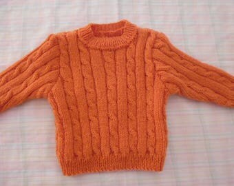 Hand knit sweater size 6 months