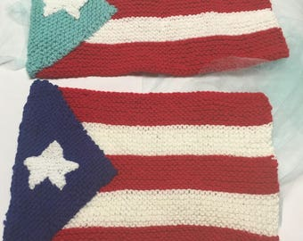 Knit Puerto Rican Flags
