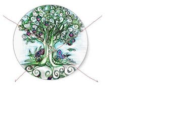 glass 20mm Cabochons craft tree 1