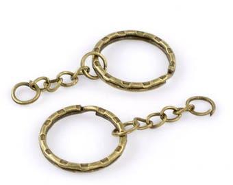 Key chain ring Bronze 5.3 cm 10