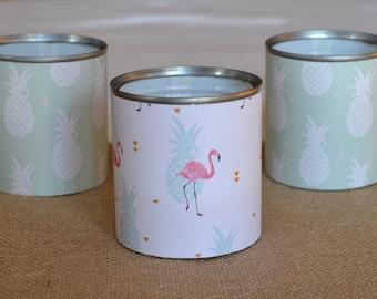 3 jars pineapple and Flamingo Pink - TRENDY Pots