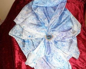 silk scarf and its enamel scarf clip