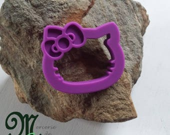 "Teething ring, shaped head ""Hello Kitty"" purple."