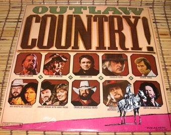 Outlaw Country LP - Sealed - Compiation Album - Realistic Records - 1981