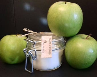 Green Apple soy wax candle