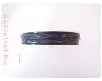 5 m black - steel wire
