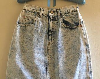 Women's Vintage Palmetto's Denim Skirt