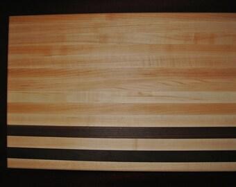 Maple with walnut strips