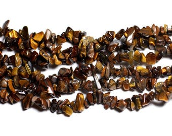 about - stone beads - 140pc rock Chips 5-10mm - 4558550026828 Tiger eye