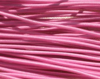 Skein 19 m - 5 wires 3.80 m elastic fabric 1 mm pink 4558550019035
