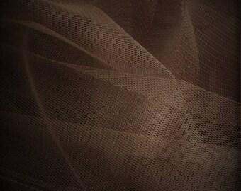 100 meter tulle flexible brown chocolate width 300 cm