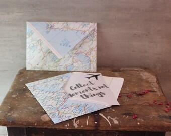 """Handmade envelopes """"Map"""""""