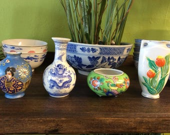 Small Ornamental Japanese Vases