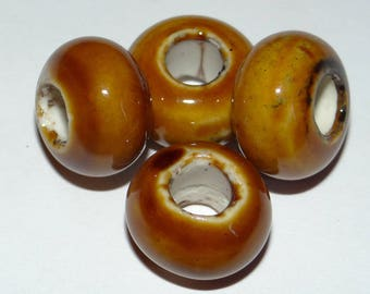 beads pandora style Brown set of 4