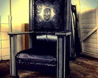 Baroque Leather Chair