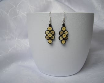 Modern earrings, paper quilling