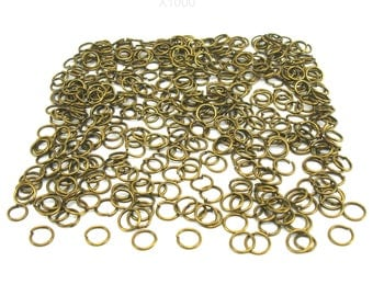 1000 6 mm antiqued bronze jump rings