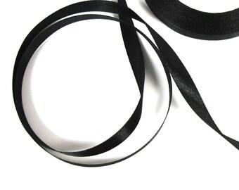 2 M 10 mm wide black satin ribbon