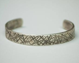 SILVER CROSSES BRACELET- Handmade Men's Bracelet