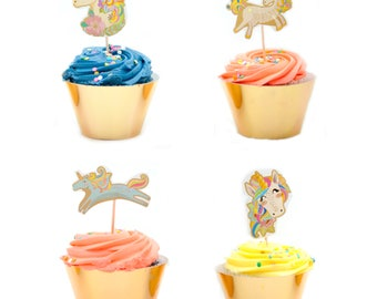 Magical Unicorn Cupcake Party Pack for 24 Cupcakes