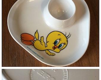Vintage egg Cup Tefal Tweety Warner Bros Shop PlumeDubois