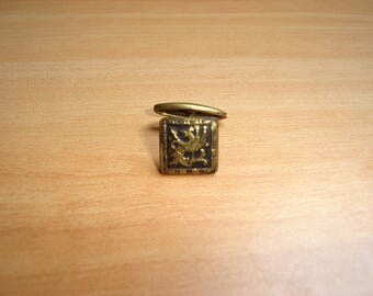 brass square shape cufflinks
