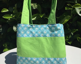 Small lightweight, reversible tote bag