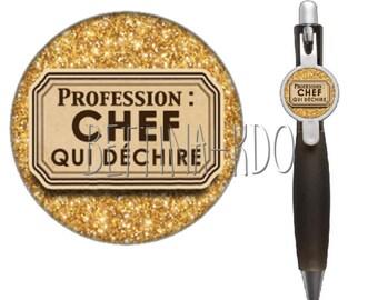 "Ballpoint pen ""PROFESSION: chef that rocks"""