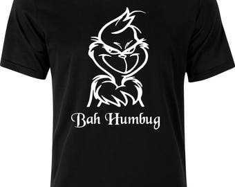 Christmas bah humbug gift funny  100% cotton t shirt
