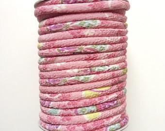 Japanese cord 3mm, Chirimen, cherry blossom pattern, pink (C3120-3)