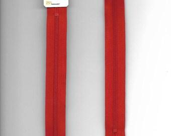 "Closure 20cm zipper""plastic"" not separable Z51 red 844"