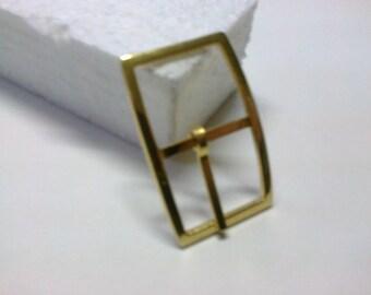 Rectangular buckle brass passage 2.3 cm * BO123 *.
