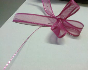 Ribbon pink decor pronounced 2.5 cm