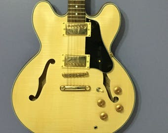 335 style semi hollow body electric guitar