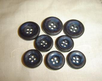 8 buttons fancy blue / / 17 & 21 mm