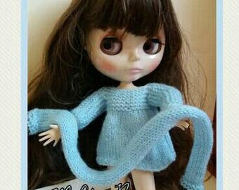 Sweater and scarf for BLYTHE, Barbie, Momoko, Poppy ...