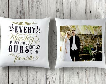 Wedding cushion, personalised wedding gift, photo gift, wedding gift, gift for her, anniversary gift, valentine gift