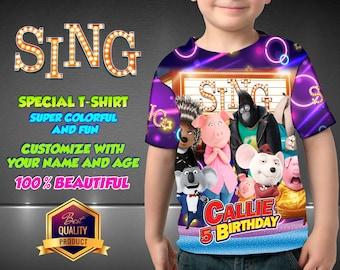 SING Birthday Shirt,  SING Custom Shirt, SING Personalized Shirt, Sing family shirts, Sing Birthday t-shirts Sing Disney Family