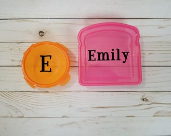 Pink and Orange Lunch Set