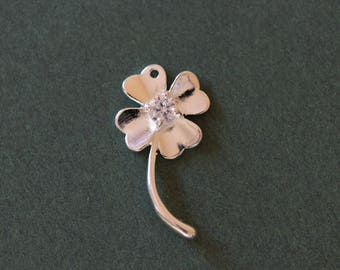 Pendant in 925 sterling - silver clover charm ❤