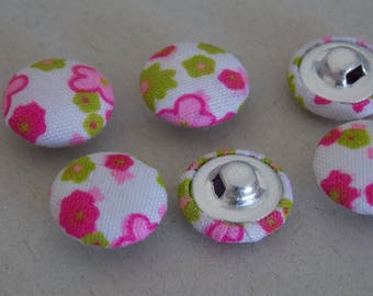 Fabric 15mm two hole round button ❤