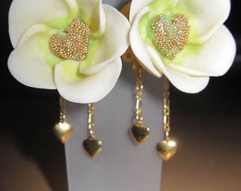 """14KT gold plated earrings """"Oh my Valentine!"""""""