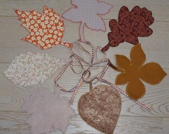 fall leaves Garland satin velvet fabric