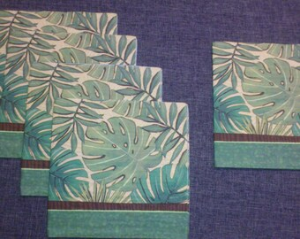 a set of 5 towels exotic foliage green shades