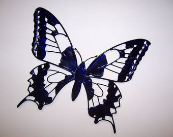 painted Butterfly wall decor in copper wire