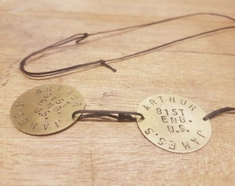 Double - Personalized WW1 Dog Tags