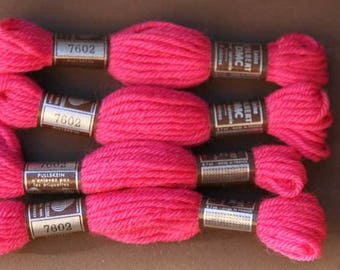 8 m skein No. 7602 tone bright pink, 100% pure wool Colbert DMC