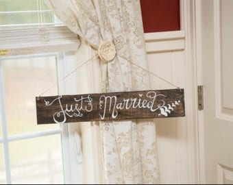 Just Married Sign, weddings, wedding sign